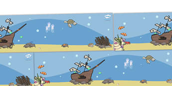 Small World Background (Under the Sea) - Small World, backdrop, background, scenery, small world area, small world display, small world resources, seaside, under the sea, ocean