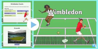 KS2 Wimbledon Information PowerPoint - tennis, tournament, wimbledon championships, tennis players, sport