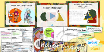 PlanIt - Art KS1 - Colour Chaos Lesson 5: Delaunay Lesson Pack