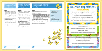 EYFS Butterfly Life Cycle Science Experiments Pack - butterfly, life cycle, egg, caterpillar, cocoon, chrysalis
