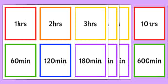 Hours and Minutes Equivalents Matching Cards - hours, minutes, equivalents, matching cards, match, cards, h, m
