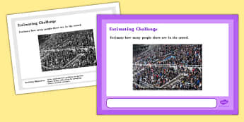 Estimating Maths Challenge A4 Display Posters - challenge, math