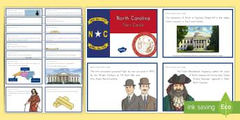 North Carolina Fact Cards - United States History, State history, North Carolina, tarheel state,