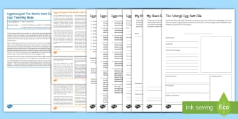 Eggs-travagant! The World's Most Expensive Easter Eggs Differentiated Reading Comprehension Activity - Comprehensions, KS3/4 English, ESL, Reading Comprehension, Easter, easter eggs, easter decorations,