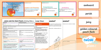 Y4 James and the Giant Peach: Activity Plan 6 PlanIt Guided Reading Pack - James and the Giant Peach, roald dahl, insects, carousel, y4, year 4, ks2, english, literacy, readin