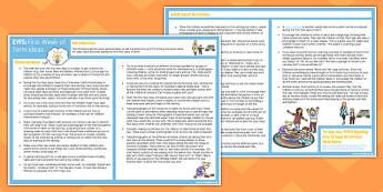 EYFS First Week of Term Ideas - eyfs, first, week, term, ideas
