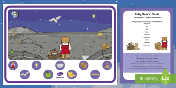 Baby Bear's Picnic Can You Find...? Poster and Prompt Card Pack - Whatever Next, Jill Murphy, space, baby bear, owl, finding