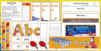 The Olympics Table Tennis Resource Pack - Table Tennis, Olympics, Olympic Games, sports, Olympic, London, 2012, resource pack, pack resources, activity, Olympic torch, events, flag, countries, medal, Olympic Rings, mascots, flame, compete