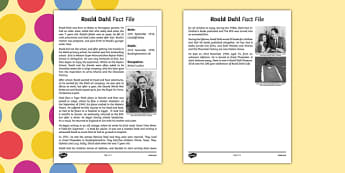 Roald Dahl Fact File