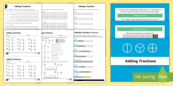 How to Add Fractions - fractions, adding fractions, add,
