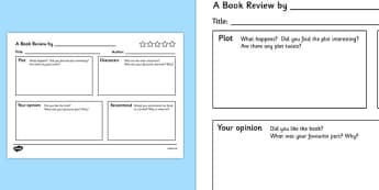 Book Review Template - book review template, book review, writing