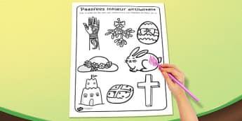 Afrikaans Easter Colouring Activity Sheet - afrikaans, easter, worksheet