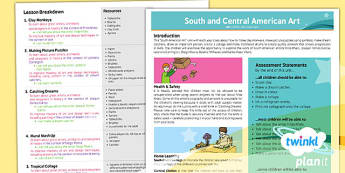 PlanIt - Art UKS2 - South and Central American Art Planning Overview