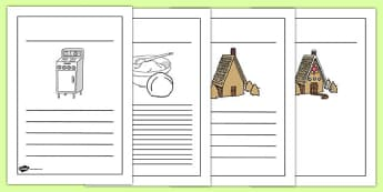 Gingerbread House Recipe Instructions Writing Frames - recipe