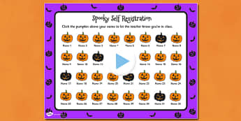 Halloween Self Reg PowerPoint - halloween, self-reg, powerpoint