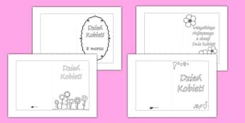 Kartki na Dzień Kobiet po polsku - 8 marca, kobiety