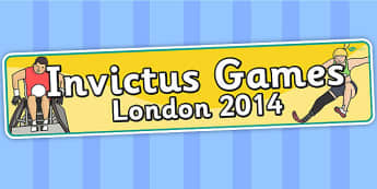 Invictus Games London 2014 Display Banner - header, sports