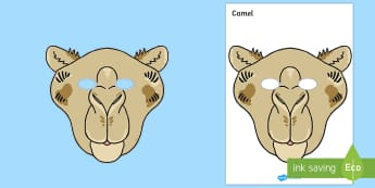 Camel Mask - camel mask, three kings, nativity, story of the birth of jesus, birth of jesus