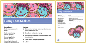 I Like Myself Funny Face Cookie Recipe - usa, america, i like myself, all about me, funny face, cookie recipe