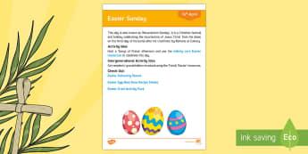 Easter Sunday Adult Guidance - Calendar Planning April 2017, Activity Coordinators, Support, Planning, Elderly Care, Care Homes, Ea