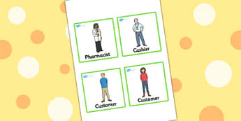 Pharmacy Role Play Badges - doctors, roleplay, props, badge