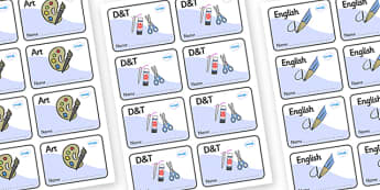 Welcome to our class - Plain Themed Editable Book Labels - Themed Book label, label, subject labels, exercise book, workbook labels, textbook labels