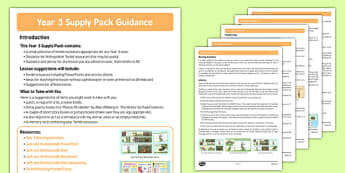 Year 3 Supply Pack Guidance - year 3, supply teacher, pack, guidance, cover, teacher