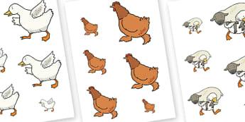 Farmer Duck Size Ordering - farmer duck, size ordering, size ordering actvity, ordering activity, themed ordering activity, size ahd shape, size, arranging