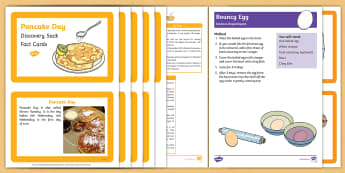Pancake Day Discovery Sack - Early Years, continuous provision, early years planning, adult led, Shrove Tuesday