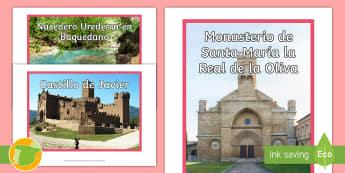 Fotos de exposición: Sitios de interés - Navarra - Mapas, provinicias, mapas mudos, mapas en blanco, las ciudades de españa, comarcas, concejos, comun