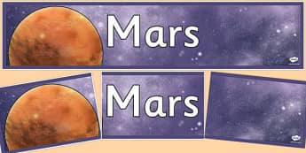 Mars Display Banner - Mars, space, planets, display, banner, classroom