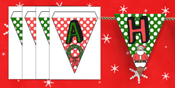 Happy Christmas Bunting - christmas, happy christmas, happy, bunting, display