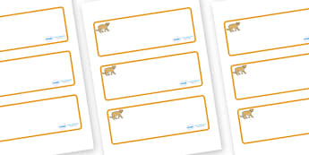 Puma Themed Editable Drawer-Peg-Name Labels (Blank) - Themed Classroom Label Templates, Resource Labels, Name Labels, Editable Labels, Drawer Labels, Coat Peg Labels, Peg Label, KS1 Labels, Foundation Labels, Foundation Stage Labels, Teaching Labels