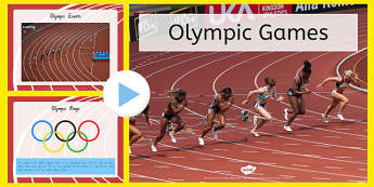 Olympics Information PowerPoint - nz, new zealand, Brazil, Rio 2016, Modern, Ancient Greek, Olympic Rings, Olympic Torch