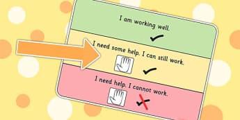 On Task Visual Support Cards - learning support, SEN, tasks