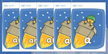 Foundation Stage 2 Keywords on Rockets (Whatever Next) to Support Teaching on Whatever Next! - FS2, CLL, keywords, Communication language and literacy,  Display, Key words, high frequency words, foundation stage literacy, DfES Letters and Sounds, Let