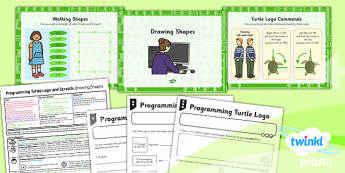 PlanIt - Computing Year 2 - Programming Turtle Logo and Scratch Lesson 1: Drawing Shapes Lesson Pack