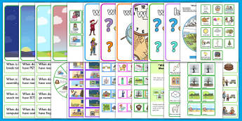 When Question Word LSA Activity Pack - where, question words, narrative therapy, speech and language, intervention pack
