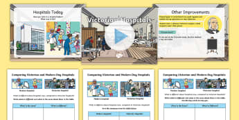 KS1 Victorian Hospitals Information PowerPoint Activity Pack - Florence Nightingale's Birthday, Florence Nightingale, Joseph Lister, history, then and now, The li
