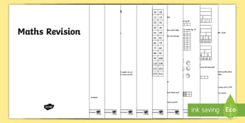Year 4 Maths Revision Booklet - KS2, Maths, Year 3, revision, reasoning, mastery, arithmetic, mathematics, Year 4