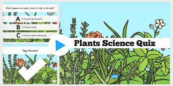 Plants Science PowerPoint Quiz - plants, science, powerpoint