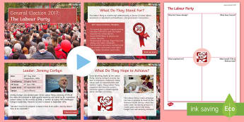 The Labour Party Information PowerPoint Pack - Jeremy Corbyn, manifesto, history, politics, vote, prime minister, member of parliament