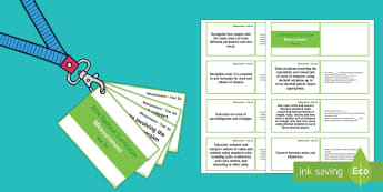 Lanyard Sized Year Six Measurement Objectives Cards - year 6, year six, y6, objectives, assessment, assess, understanding, measurement, cubic centimetres,