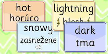 Seasons and Weather EAL Slovak Version - season, weather, EAL