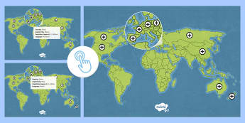KS2 Around the World in 80 Days Route Map Picture Hotspots - cycling, guinness, world record, mark beaumont, map, 80 days