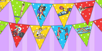 The Commonwealth Games Bunting - sport, sports, games, display