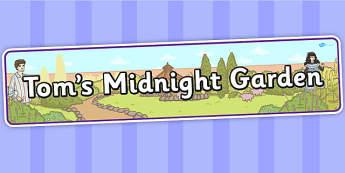 Tom's Midnight Garden Display Banner - display banner, display