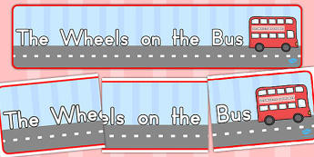 The Wheels on the Bus Display Banner - australia, display, banner