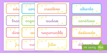 Tarjetas de vocabulario: Adjetivos inspiracionales - adjetivos, inspiración, vocabulario, tarjetas, adjetivo, describir, inspiracionales, inspiracional,