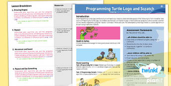 PlanIt - Computing Year 2 - Programming Turtle Logo and Scratch Planning Overview